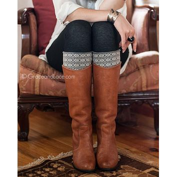 Grace & Lace Patterned Boot Cuffs