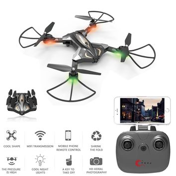TKKJ L600 Optical Flow Positioning Foldable Mini Rc Selfie Drone with Wifi FPV 0.3MP HD Camera Altitude Hold RC Quadcopter Drone