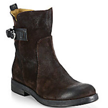 Alberto Fermani - Cori Suede Moto Ankle Boots - Saks Fifth Avenue Mobile