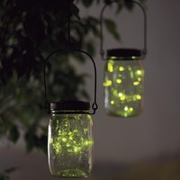 Solar Firefly Jar Decorative Outdoor Light - Plow & Hearth