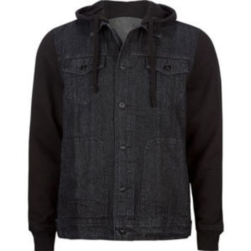 KAUN Jonny Mens Hooded Denim Jacket