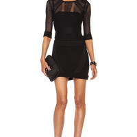 Ashlyn Poly Dress in Black