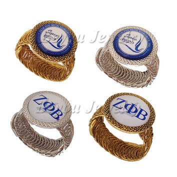 ZETA PHI BETA Sorority Open Style Cuff Bangle Jewelry