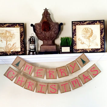 Merry Christmas Banner, Christmas Banner, Christmas Decoration, Christmas Photo Prop, Holiday Photos