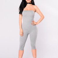 Maya Jumpsuit - Heather Grey