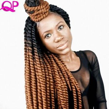 CREY78W Qp Hair 12 Strands Mambo Twist 2X jumbo Synthetic Hair Kanekalon braid  Crochet Hair  Extensions