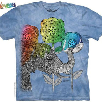 Elephant Coloring T Shirt BY VALENTINA HARPER COLORWEAR T-SHIRT by The Mountain