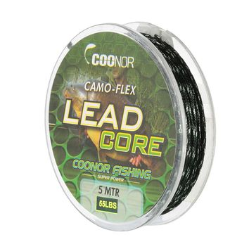 COONOR 35lb / 45lb / 55lb 5m Fishing Line Leadcore Braided Camouflage Carp Fishing Line Hair Rigs Lead Core Fishing Tackle