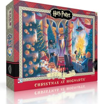 Harry Potter Christmas at Hogwarts 500-Piece Puzzle