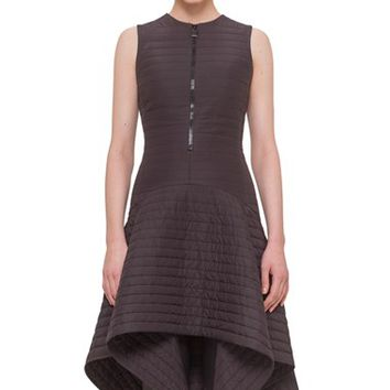 Women's Akris Half Zip Sleeveless Quilted Dress,