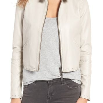 Rebecca Minkoff Neva Leather Moto Jacket | Nordstrom