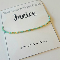 Silver Morse Code Bracelet Personalized bracelet  Be my bridesmaid gift friendship bracelet  Wish bracelet  Sister bracelet