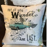 Not All Who Wander are Lost Decorative Throw Pillow