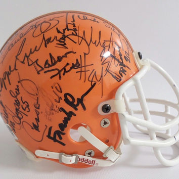 Cleveland Browns Autographed Mini Football Helmet Cassidy Wiggin Ryan More COA