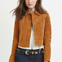Genuine Suede Jacket - Sale - Sale - Jackets - 2000161492 - Forever 21 EU English