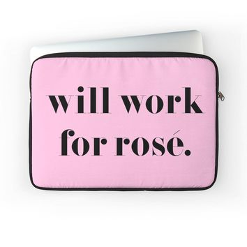 Will Work For Rose - Laptop Cover