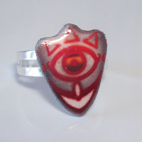 Mask of Truth Ring - Legend of Zelda Plastic Video Game Jewelry by Enrah