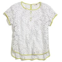 Whit® Embroidered Floral Tee