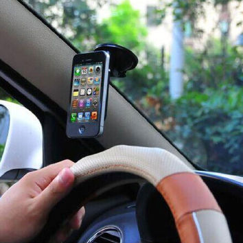NEW Anti-slip Silicone Suction Cup 360 Degree Car Mount Cradle Holder Vacuum Dashboard Sucker Stand For iPhone Samsung LG SONY