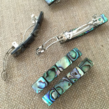 Hair Barrettes | Abalone Barrette | Hair Clip | Hair Accessories | Bridal Hair Accessories | Wedding Barrette | French Barrette