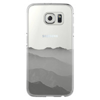Misty Cloudscape with mountain Samsung Galaxy S6 Edge Clear Case S6 Case S5 Transparent Cover iPhone 6s plus Case