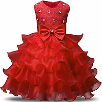 Girls Ceremonies Party Dress For Wedding Children's Girl Clothing Kids Dresses for Girls Tulle Kids Prom Gown Designs