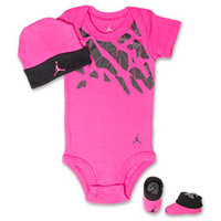 Jordan Shattered Elephant Print 3-Piece Infant Set