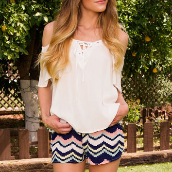 Waves Striped Shorts