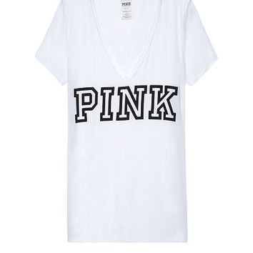 Super Soft V-Neck Tee - PINK - Victoria's Secret
