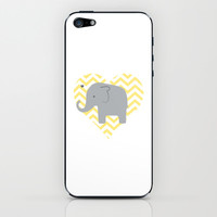 Baby Elephant iPhone & iPod Skin by Janelle Krupa