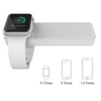 DCK4S2 MFi Certified Apple Watch and iPhone Portable Charger, TOPVISION 4000mAh iWatch Magnetic Wireless Power Bank Battery, One 2 in 1 Lightning Cable (1M) Included, Perfect Gifts (White)
