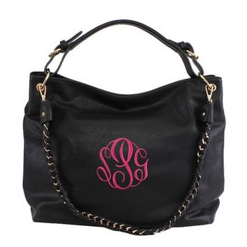 Eden Distressed Handbag - Black