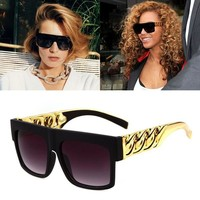 JackJad Fashion Celebrity Inspired Gold Chain Sunglasses Vintage Hip Hop Style Kim Kardashian Beyonce Sun Glasses Oculos De Sol