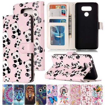 Varnish Relief Leather Case For LG G6 Cover Leather Flip Wallet Phone Case For LG K10 2017 Mobile Phone Shell