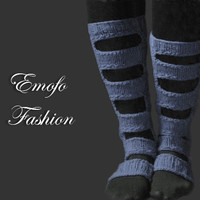 Gray Knitted Boot Socks Over the Knee Cable Knit Socks Lounge Socks Women's Legwear Fashion Accessory Perforated boho socks shabby chic
