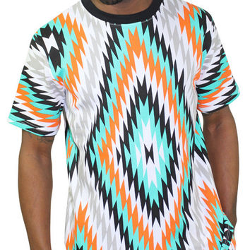 Moss New York Men's Moztec Aztec Tee T-Shirt