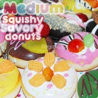 Kawaii Medium Squishy Savory Donut Charms
