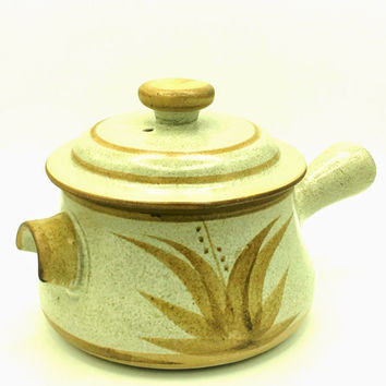 Vintage Stoneware Designs West Cookware - California Pottery - Red Clay Soup Pot with Lid