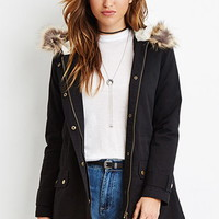 Faux Fur-Hooded Parka