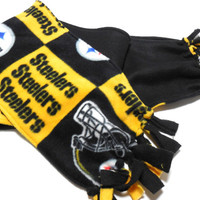 Polar Fleece Infinity Scarf,  Kids Adults Double Layer,  Pittsburgh Steelers