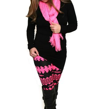 Haute Pink Patterned Leggings