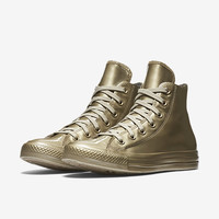 The Converse Chuck Taylor All Star Metallic Rubber High Top Women's Shoe.