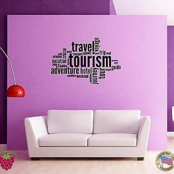 Wall Sticker Adventure Travel Message Words Quotes Unique Gift z1349