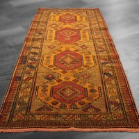 4x8 3x8 Overdyed Vintage Caucasian Shirvan Tangerine Rug woh-2628 - West Of Hudson - Unique Rug Collection