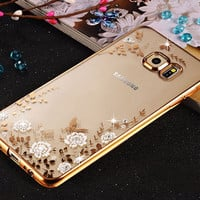 Bling Diamond Clear Case for Pouch Samsung Galaxy S7 Edge Case Silicone Cover for Samsung S7 Edge Case Luxury TPU S7edge Cover