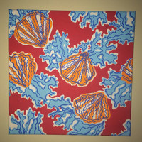 Coralina Lilly Pulitzer Inspired 12x12 Canvas