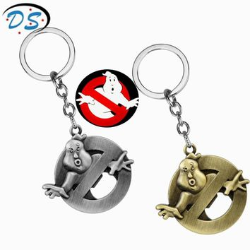 Hot Rock Music Band Ghostbusters Logo Pendant Keychains Vintage Metal Pendants Keyrings Music Fans Gift Key Chain chaveiro