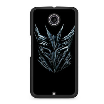 Transformers Decepticon Logo Design Nexus 6 case
