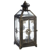Medium Jeweled Lantern - Black