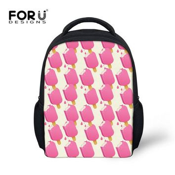 Toddler Backpack class FORUDESIGNS Ice Cream Schoolbag Korean Style Backpack Toddler Girls Boys Small Kawaii Shoulder Book Bag for Kindergarten Hot New AT_50_3